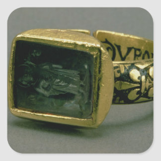 Signet ring of King Louis IX of France St Louis Square Stickers