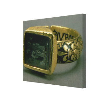Signet ring of King Louis IX of France (St. Louis) Stretched Canvas Prints