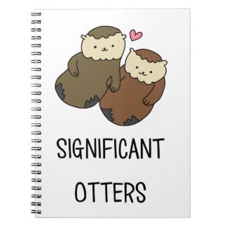 SIGNIFICANT OTTERS couple's shirts, accessories Notebook