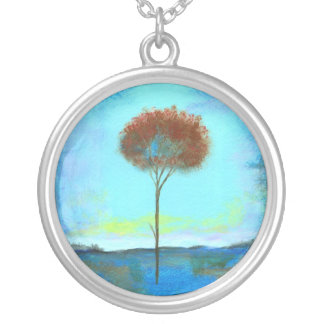 Significant Round Pendant Necklace From Painting