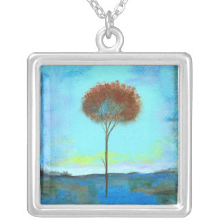 Significant Square Pendant Necklace From Painting