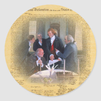 Signing Of The Declaration Of Independence Classic Round Sticker