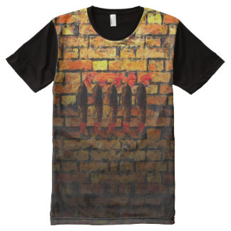 Signing On All-Over Print T-Shirt