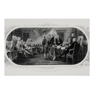 Signing the Declaration of Independence - Trumbul Poster