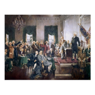Signing the US Constitution by Christy Postcard