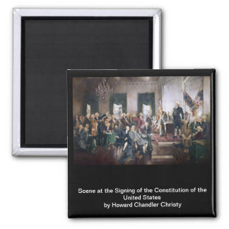 Signing the US Constitution by Christy Square Magnet