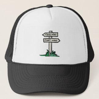 Signpost at a Crossroads Trucker Hat