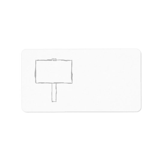 Signpost Notice. Grey and white. Address Label