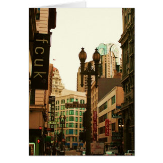 signs everywhere greeting card
