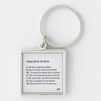 Signs From The Earth Silver-Colored Square Key Ring