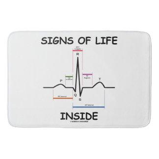 Signs Of Life Inside EMT Medical Heartbeat Humor Bath Mat