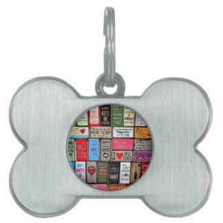 Signs Of The Time Inspirational Mosaic Pet Tag