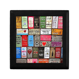 Signs Of The Time Inspirational Mosaic Small Square Gift Box