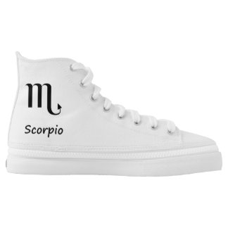 Signs of The Zodiac High Top  Printed Shoes