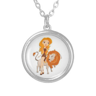 Signs of the Zodiac, Leo Round Pendant Necklace