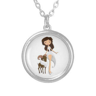 signs of the Zodiac Round Pendant Necklace