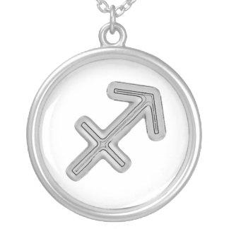 Signs of the Zodiac, Sagittarius Round Pendant Necklace