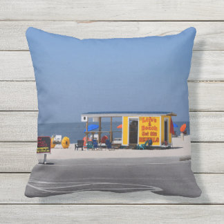 Signs on the Beach Outdoor Cushion