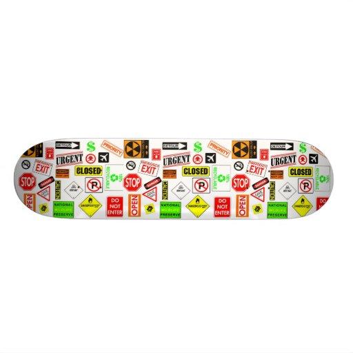Signs Skateboards