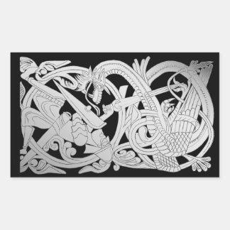 Sigurd Silver Rectangular Sticker