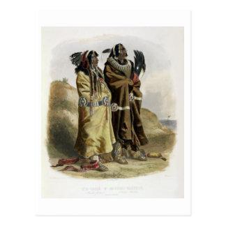 Sih-Chida and Mahchsi-Karehde, Mandan Indians, pla Postcard