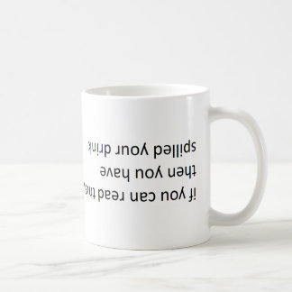 'sıɥʇ pɐǝɹ uɐɔ noʎ ɟı (if you can read this) coffee mug