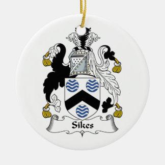 Sikes Family Crest Ceramic Ornament