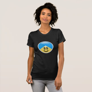 Sikh American Money Eyes Turban Emoji T-Shirt
