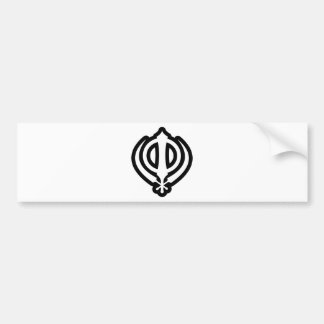Sikh Khanda Khalsa Sikhism Punjabi Design Bumper Sticker