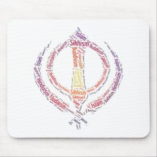 Sikh khanda symbol unique design mouse pad