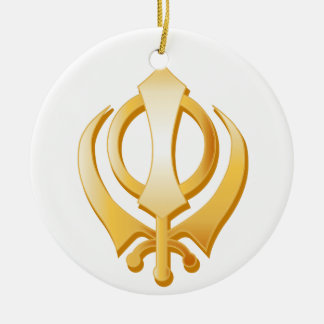 Sikh Symbol Ceramic Ornament