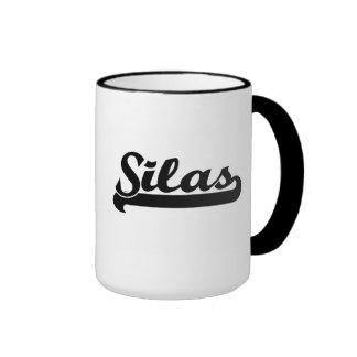 Silas Classic Retro Name Design Ringer Mug