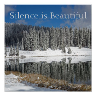 Silence is Beautiful Poster
