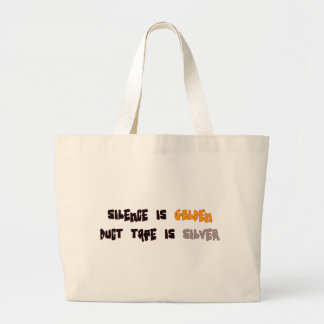 Silence is Golden Tote Bags