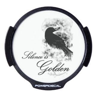 Silence is Golden - Black Bird LED Window Decal