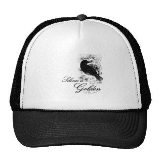 Silence is Golden - Black Bird Mesh Hats