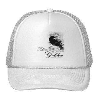 Silence is Golden - Black Bird Hat