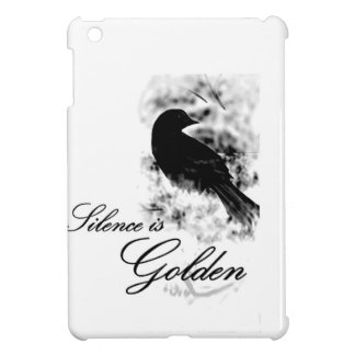 Silence is Golden - Black Bird Case For The iPad Mini