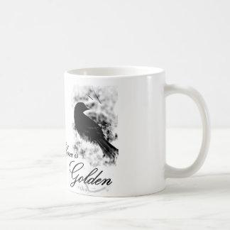 Silence is Golden - Black Bird Mugs