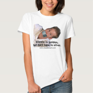 """Silence is golden.. Cluade Quote """"T"""" with Image T-shirt"""