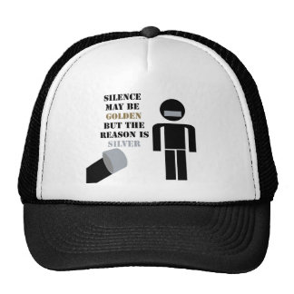 Silence is Golden Duct Tape Humor Mesh Hats