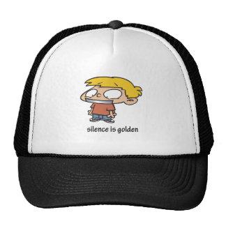 Silence Is Golden Trucker Hats