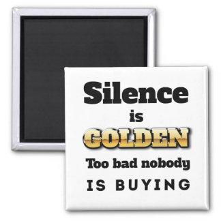 Silence is Golden Fridge Magnets