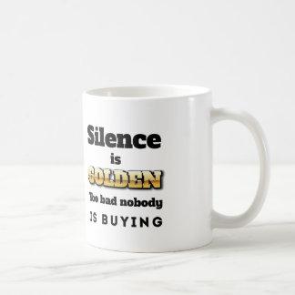 Silence is Golden Mugs