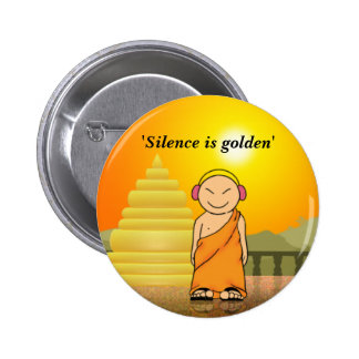 Silence is golden pins