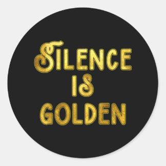 Silence is Golden Round Sticker