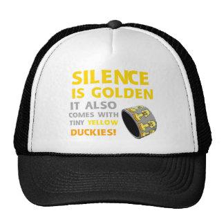 Silence Is Golden Rubber Ducky Duct Tape Humor Trucker Hats