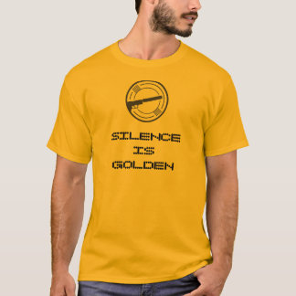 """Silence is Golden"" Silencer News tee"
