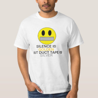 Silence Is Golden Smiley T Shirts