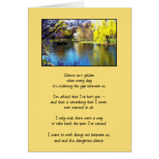 Silence Isn't Golden...Relationships Greeting Card